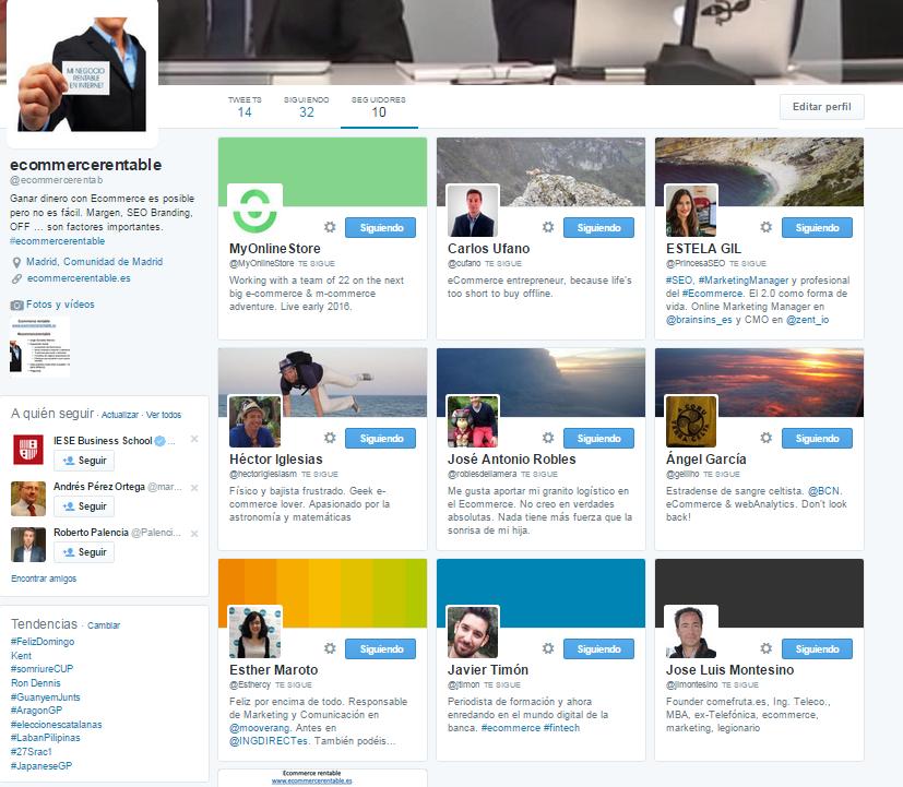 Twiter primeros 10 seguidores