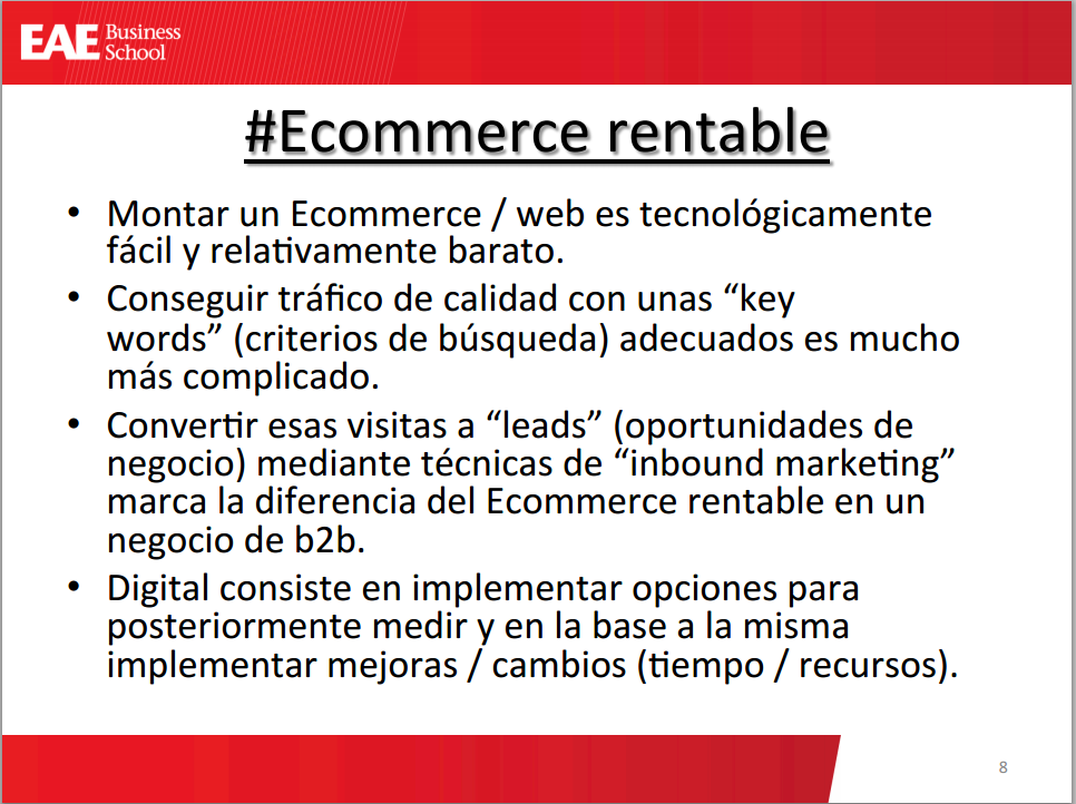 Resumen del ecommerce rentable CAF