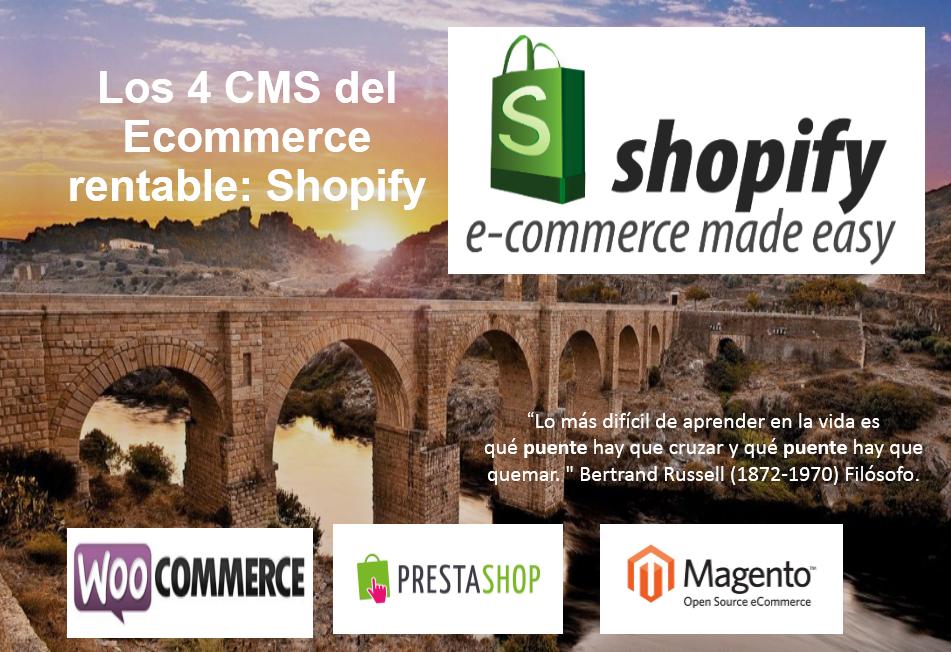 Shopify una herramienta ideal para el arranque de un proyecto de Ecommerce rentable sin necesidad de contratar un programador.