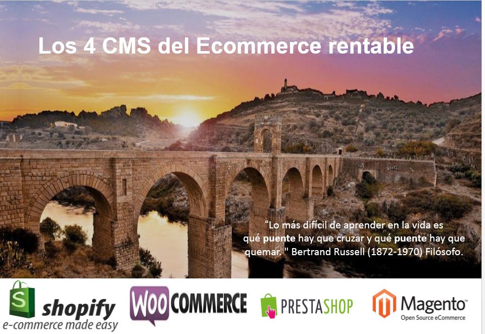 los 4 CMS del Ecommerce rentable alcantara