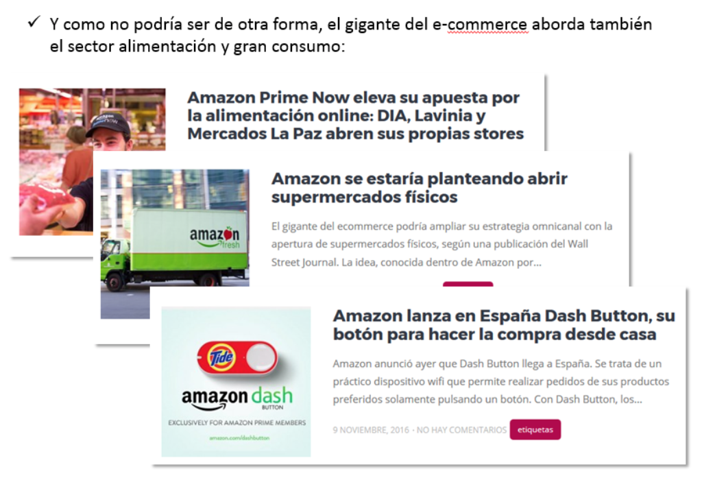 Ecommerce Alimentación Amazon