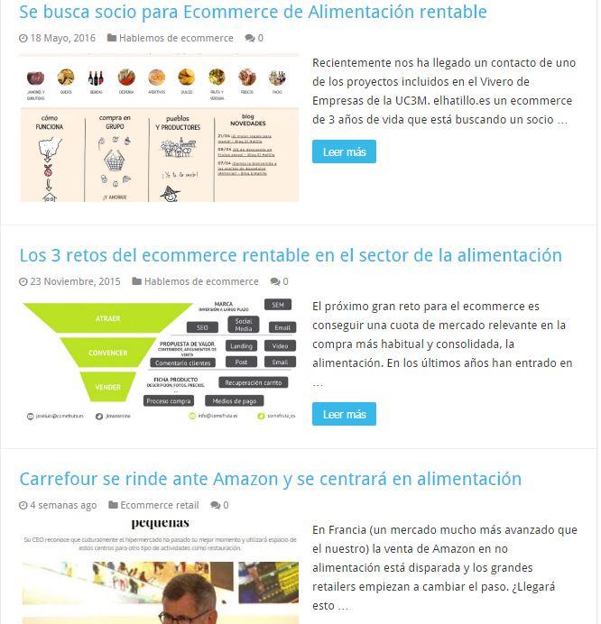 Ecommerce alimentacion informaciones