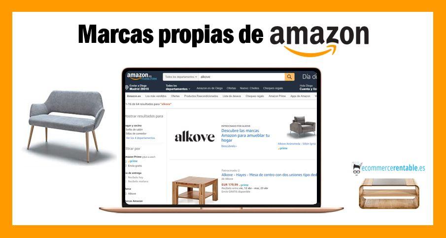marcas propias de amazon ecommerce. hogar. alkove