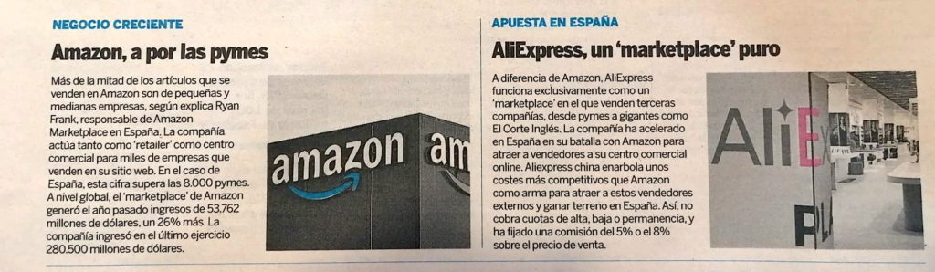 amazon vs aliexpress. expansión.