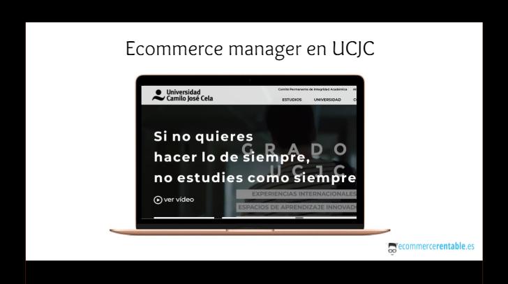 oferta trabajo comercio electronico ucjc