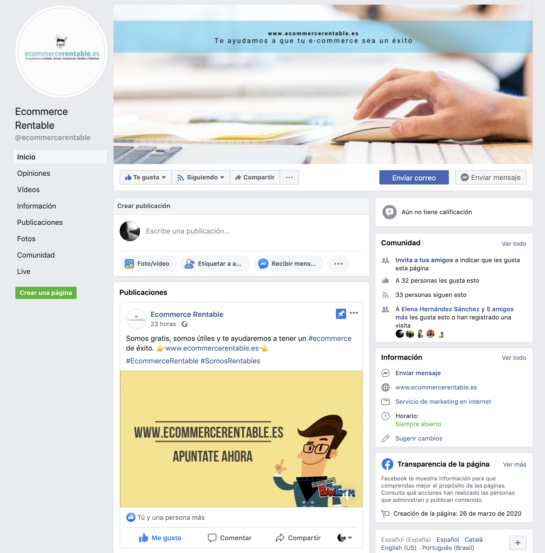 facebook ecommerce rentable