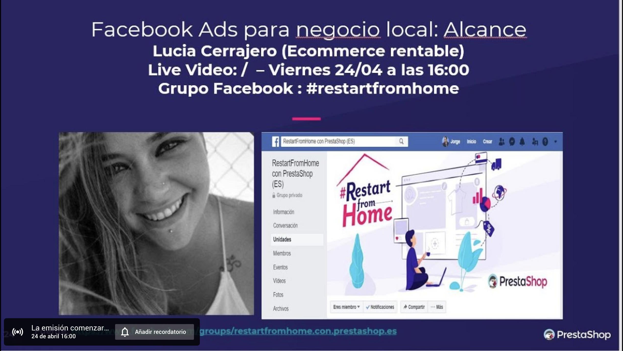 Facebook Ads para negocio local Lucía Cerrajero