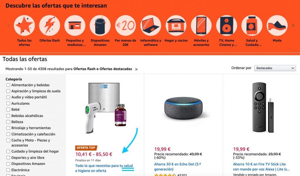 amazon vs aliexpress salud ecommerce